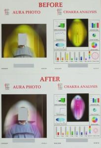 Промяна в енергийното поле на човека, резултат от използването на стола-хармонизатор